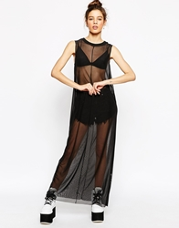 The Ragged Priest Midnight Maxi Sheer Maxi Dress Black