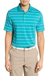 Bobby Jones Men's 'Xh20 Stripe' Stretch Golf Polo Viridian Green