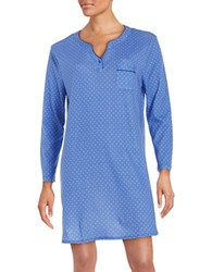 Karen Neuburger Dotted Sleepshirt Blue