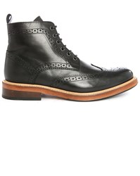 Selected Brook Pr Black Leather Boots