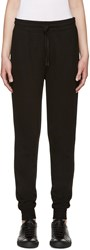 Alexander Wang Black Rib Knit Lounge Pants