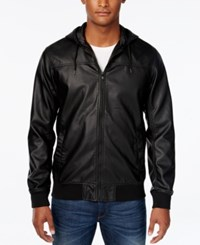 American Rag Men's Hooded Bomber Jacket Only At Macy's Deep Black