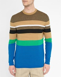Kenzo Multicoloured Round Neck Striped Knit Sweater
