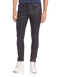 Diesel Black Gold Coated Straight Leg Jeans Black