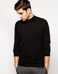 Asos Turtle Neck Jumper Black