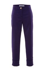 Francesco Scognamiglio Cuffed Straight Legged Pants Purple