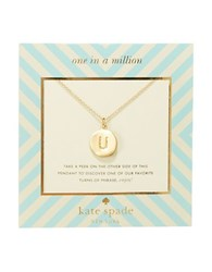 Kate Spade One In A Million Letter U Pendant Necklace Gold
