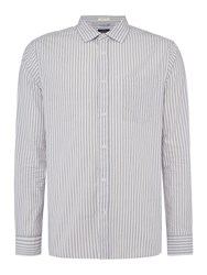 Howick Men's Dillingham Stripe Long Sleeve Shirt Blue