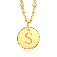 Missoma Women's Initial Charm Necklace S Gold