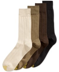 Gold Toe Premium Socks 4 Pack Brown Assorted