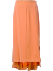 G.V.G.V. 'High Low Hem' Skirt Yellow Orange