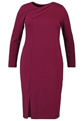 Eloquii Jersey Dress Vin Rouge Dark Red