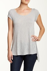 Olivia Moon Zip Back Tee Gray
