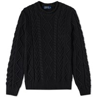 Polo Ralph Lauren Heavyweight Cable Crew Knit Black