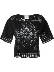 Forte Forte Lace Knit Top Black