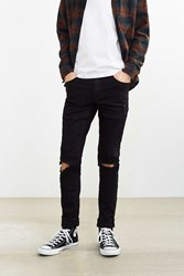 Cheap Monday Tight Black Destroyed Skinny Jean Washed Black