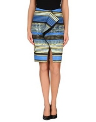Prabal Gurung Knee Length Skirts Blue