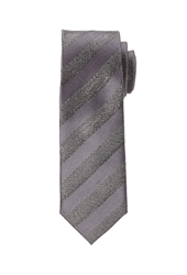 Forever 21 Metallic Striped Skinny Tie
