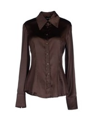 Flavio Castellani Shirts Dark Brown