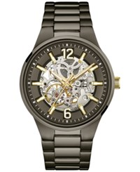 Caravelle New York By Bulova Men's Automatic Gunmetal Ion Plated Stainless Steel Bracelet Watch 43Mm 45A137