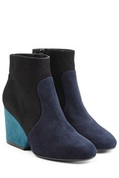Robert Clergerie Suede Ankle Boots Blue