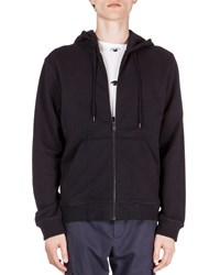 Kenzo Zip Up Hoodie With Embroidered Tiger Icon Black
