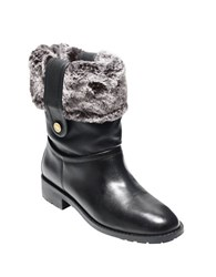 Cole Haan Breene Faux Shearling Leather Winter Boots Black