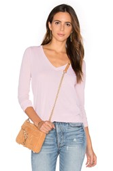 Splendid Vintage Whisper Long Sleeve V Neck Tee Pink