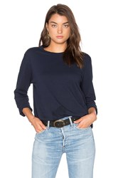 Assembly Label Bay Linen Long Sleeve Tee Navy