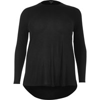 River Island Womens Ri Plus Long Sleeve Scoop Neck Tshirt