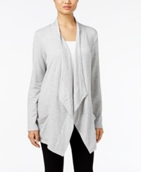 Styleandco. Style Co. Draped Open Front Cardigan Only At Macy's Light Grey Heather
