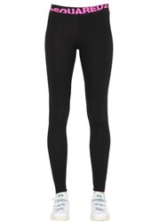 Dsquared Logo Cotton Jersey Leggings