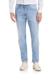 Eidos Bleached And Stonewashed Jeans Blue