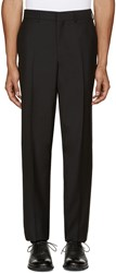 Versace Black Wool Trousers