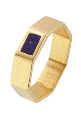 Pippa Small Gold Plated Silver Ring With Lapis Gr. One Size