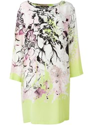 Roberto Cavalli Floral Print Shift Dress Multicolour