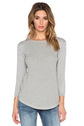 Autumn Cashmere Thermal Stitch Crew Sweater Gray