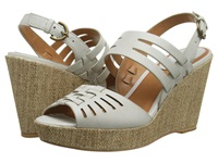 Trask Willow Stone Italian Calfskin Women's Wedge Shoes White