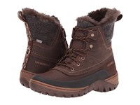 Merrell Sylva Mid Lace Waterproof Potting Soil Women's Boots Brown