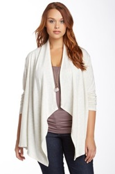 14Th And Union Drape Front Knit Cardigan Plus Size Beige