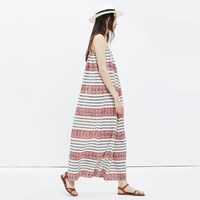 Madewell Sicily Cover Up Dress In Totem Stripe