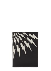 Neil Barrett Thunderbolt Leather Wallet Black And White