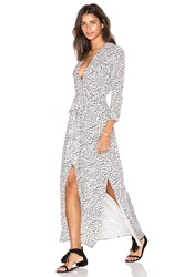 L'agence Alani Maxi Dress Black And White