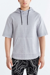 Feathers Short Sleeve Pullover Hooded Sweatshirt Charcoal