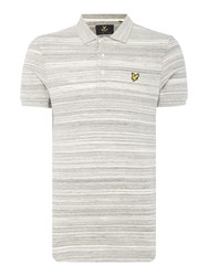 Lyle And Scott Short Sleeve Space Dye Jersey Polo Shirt Mid Grey Marl