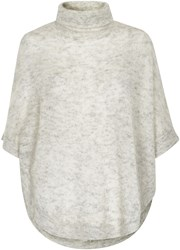 Soaked In Luxury Roll Neck Mohair Blend Poncho Grey