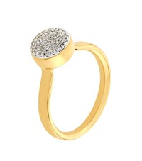 Monica Vinader Ava Diamond Button Ring Female Gold
