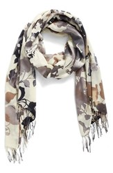 Nordstrom Women's Bouquet Romantique Wool And Cashmere Scarf