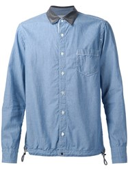 Sacai Drawstring Hem Shirt Blue