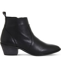 Office Leigh Leather Ankle Boots Black Leather